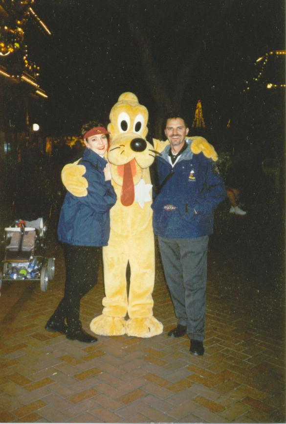 Dave and Michelle with Pluto