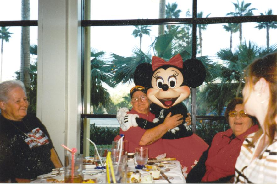 Grandpa Lords with Minnie at Christmas Dinner