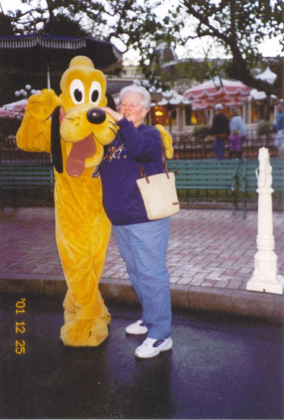Grandma Bev with Pluto