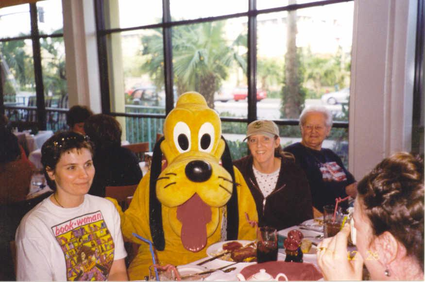 Jennifer Lords and Tricia Lords with Pluto