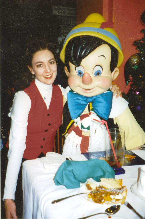 Michelle with Pinocchio