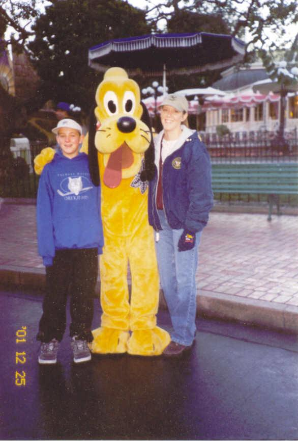 Sean and Tricia Lords with Pluto